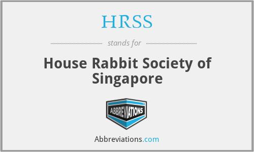 HRSS - House Rabbit Society of Singapore