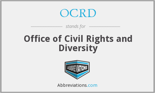OCRD - Office of Civil Rights and Diversity
