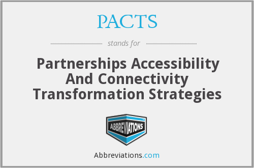 What does PACTS stand for?