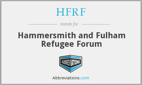 What does HFRF stand for?