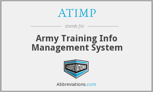 ATIMP - Army Training Info Management System