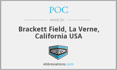 POC - Brackett Field, La Verne, California USA