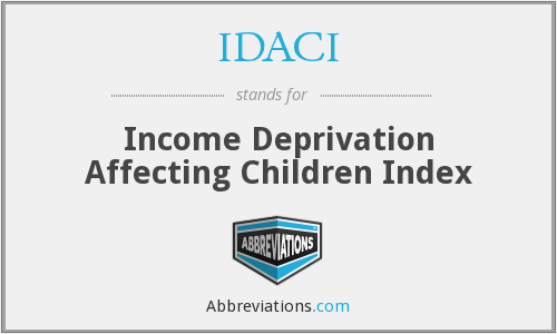 What does IDACI stand for?