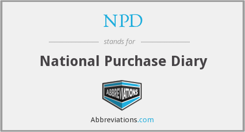 NPD - National Purchase Diary