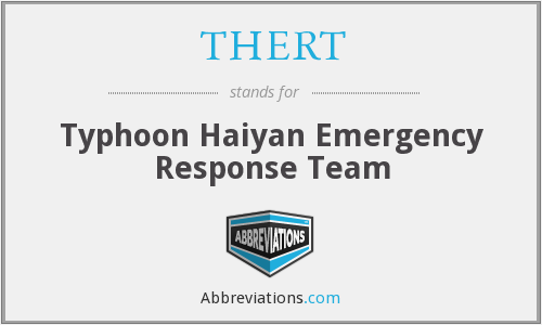 What does THERT stand for?