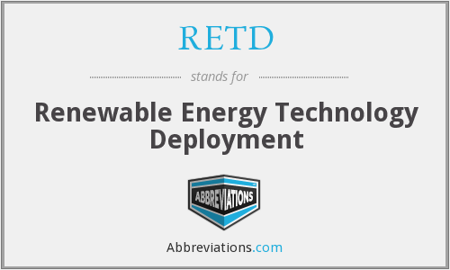 What does RETD stand for?