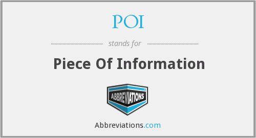 POI - Piece Of Information