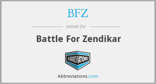 What does BFZ stand for?