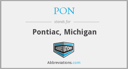 PON - Pontiac, Michigan