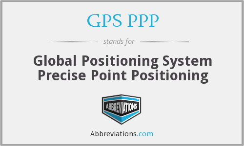 What does GPS PPP stand for?