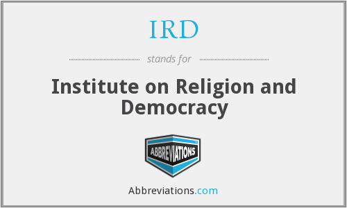 IRD - Institute on Religion and Democracy
