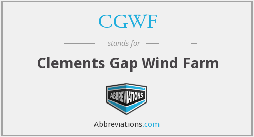 What does CGWF stand for?