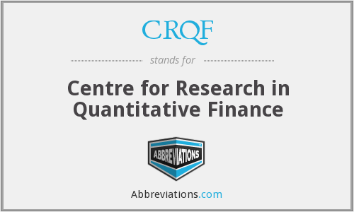 What does CRQF stand for?