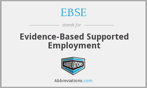 What does EBSE stand for?