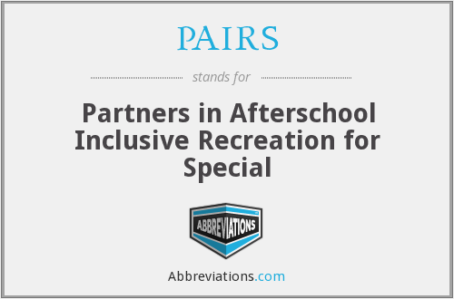 PAIRS - Partners in Afterschool Inclusive Recreation for Special