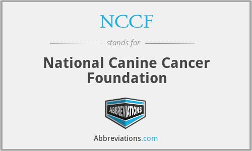 NCCF - National Canine Cancer Foundation