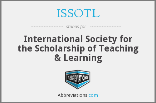 What does ISSOTL stand for?