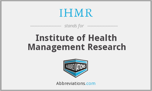 What does IHMR stand for?
