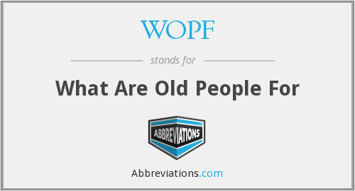 What does WOPF stand for?