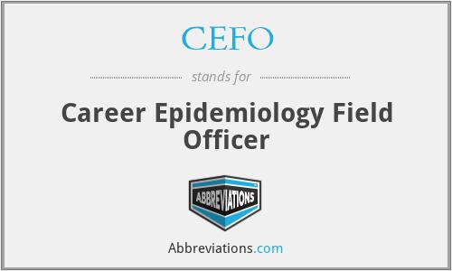 CEFO - Career Epidemiology Field Officer
