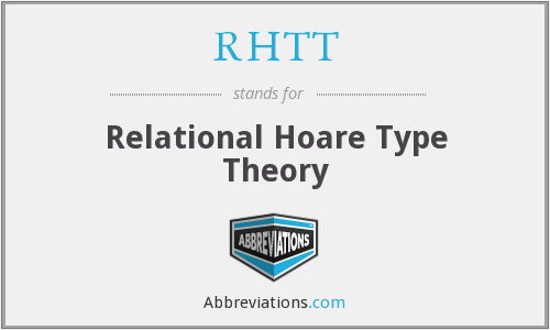 What does RHTT stand for?