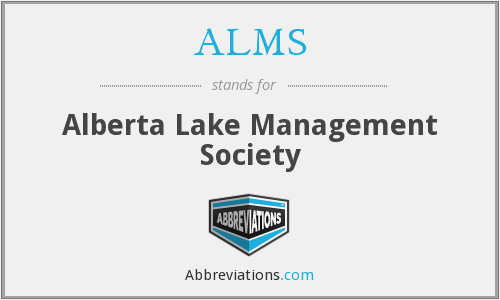 ALMS - Alberta Lake Management Society