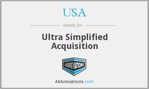 USA - Ultra Simplified Acquisition
