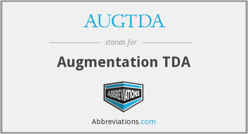 What does AUGTDA stand for?