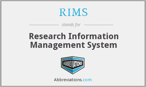 RIMS - Research Information Management System