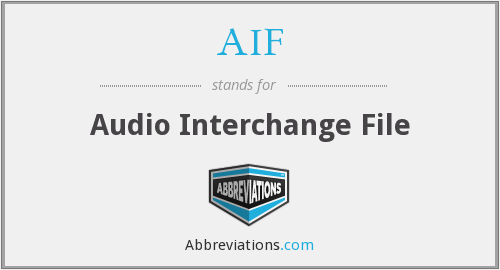AIF - Audio Interchange File