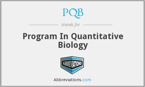 PQB - Program In Quantitative Biology