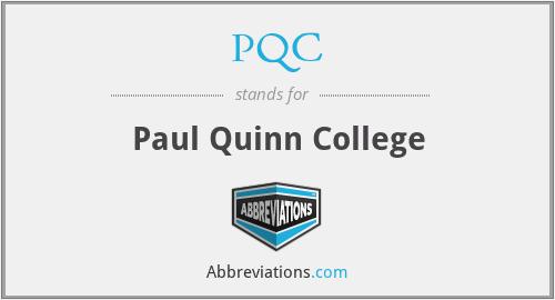 PQC - Paul Quinn College
