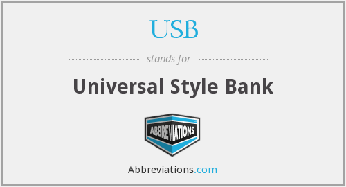USB - Universal Style Bank