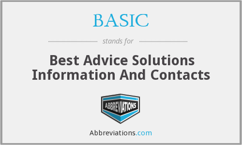 BASIC - Best Advice Solutions Information And Contacts