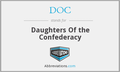 DOC - Daughters Of the Confederacy