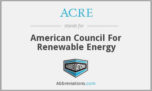 What does ACRE stand for?