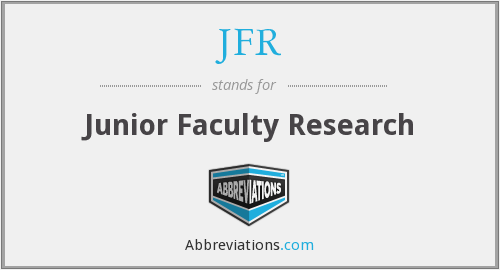JFR - Junior Faculty Research