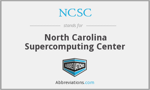 NCSC - North Carolina Supercomputing Center