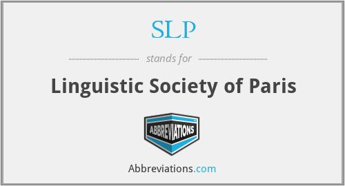SLP - Linguistic Society of Paris