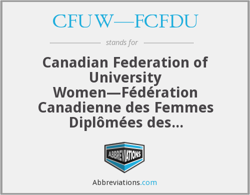 What does CFUW—FCFDU stand for?