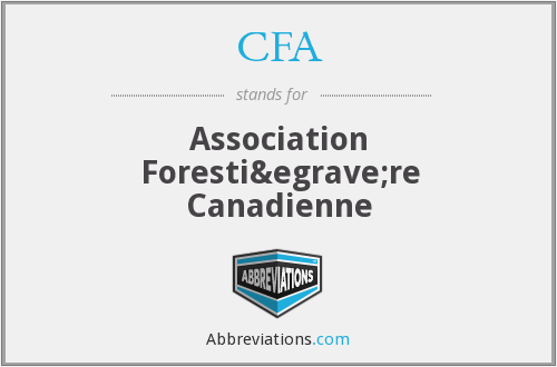 CFA - Association Forestière Canadienne