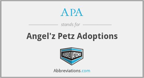 APA - Angel'z Petz Adoptions