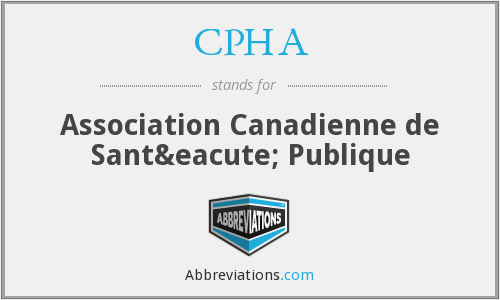 What does CPHA stand for?