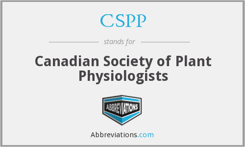 CSPP - Canadian Society of Plant Physiologists