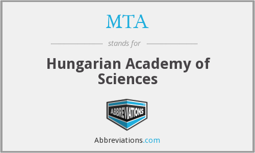MTA - Hungarian Academy of Sciences