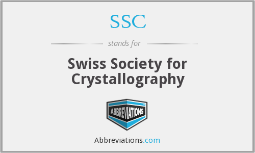 SSC - Swiss Society for Crystallography