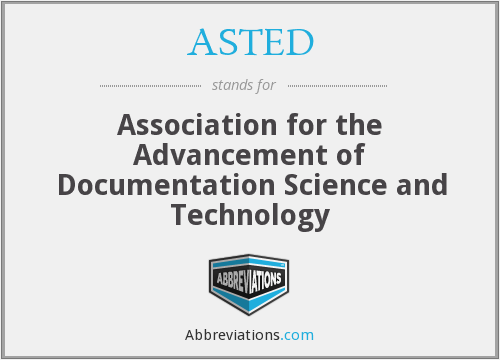 What does ASTED stand for?