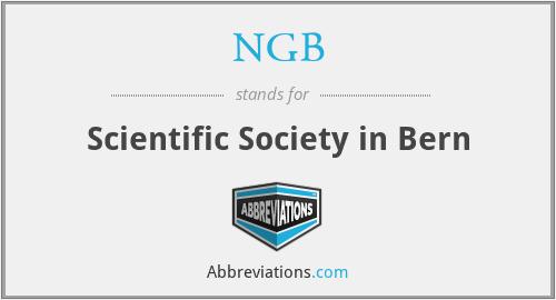 NGB - Scientific Society in Bern