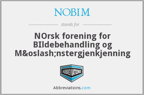 What does NOBIM stand for?