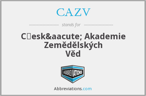 What does CAZV stand for?
